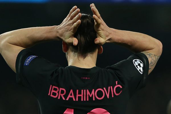 Ibrahimovic, le soir de l'élimination du PSG face à Manchester City en Ligue des Champions.