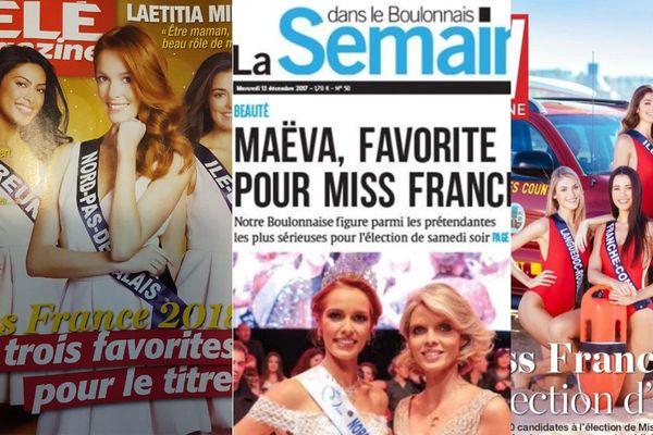 Maéva Coucke en couverture de Télé Magazine, La semaine dans le Boulonnais et TV magazine ces dernières semaines.
