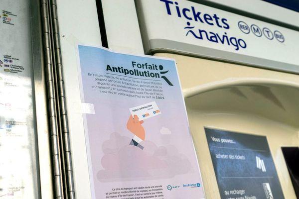 Le forfait antipollution dure une journée, et donne accès à l'ensemble des transports en commun en Île-de-France.