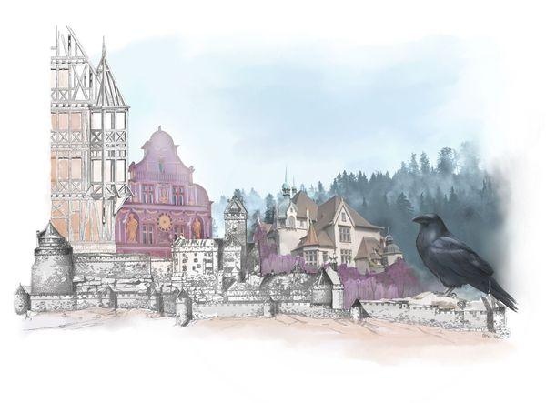 Dessin réalisé par Boris Abel pour illustrer le podcast dédié à l'Alsace.