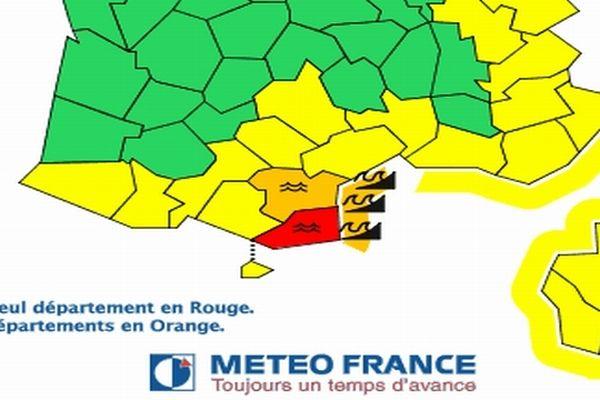 Carte Météo France - 6 mars 2013 à 15h