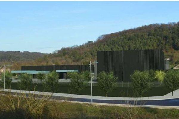 Une image de synthèse de la laverie nucléaire qu'Unitech voudrait construire à Suzannecourt en Haute-Marne