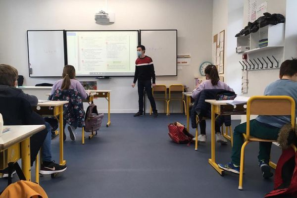 Des classes bien clairsemées pour cette rentrée à Vichy (Allier)