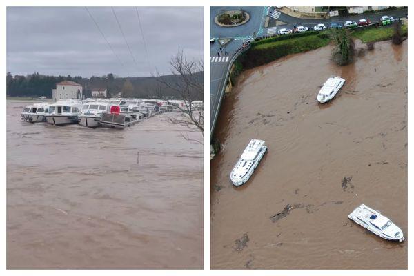 Mardi 2 février, la vingtaine de bateaux sont partis à la dérive sur le Lot.