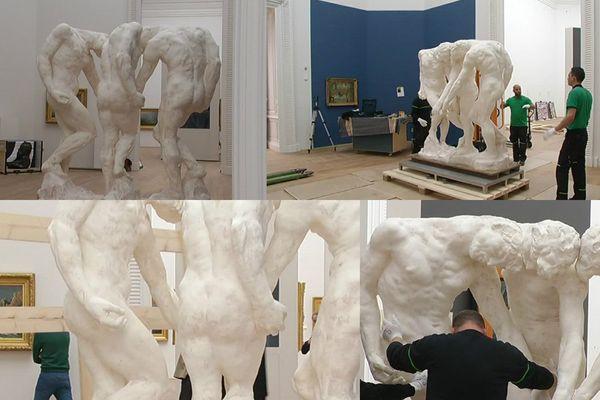 """""""Les Trois Ombres"""" a pris place dans la même salle que son ami Monet."""