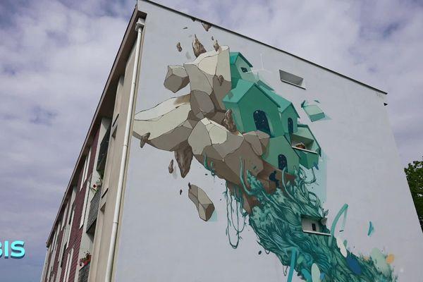 Street art en centre-ville de Dax