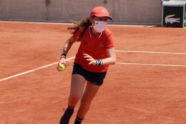 Nina Laure à Roland Garros le 3 juin 2021