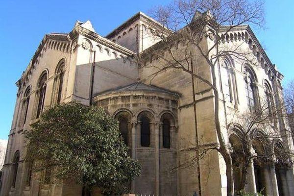 Montpellier - le temple de Maguelone - archives.