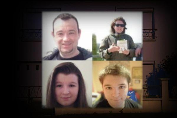 Pascal, Brigitte et leurs deux enfants, Charlotte, 18 ans et Sébastien, 21 ans, ont tous les quatre été tués dans la nuit du 16 février 2017.