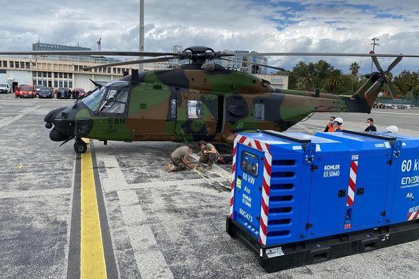 Tous les vols d'hélicoptères civils sont interdits en raison de la visite présidentielle ce mercredi après-midi.