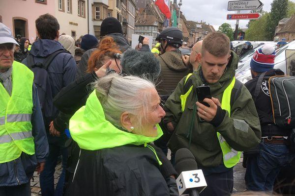 Germaine Schell, célèbre militante anti-GCO dans le cortège