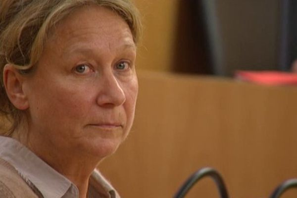Françoise Dercle ce lundi lors de son procès en appel à Caen