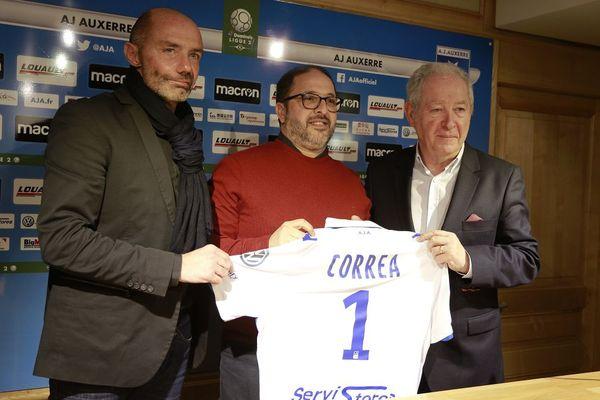 Pablo Correa a été présenté à Auxerre, jeudi 21 décembre