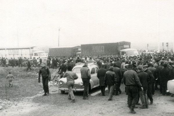 Manifestation des ouvriers de la Saviem