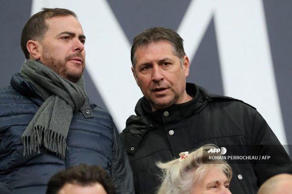 L'homme d'affaires français Bruno Fievet à l'occasion du march de foot Girondins de Bordeaux / Nice le 1er mars 2020  au stade Matmut Atlantique à Bordeaux.