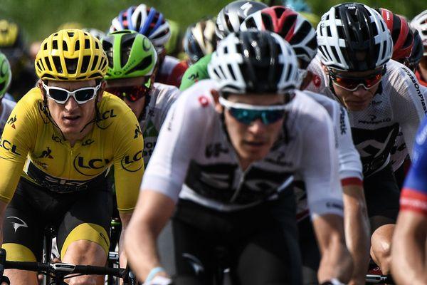 Geraint Thomas (à gauche) a remporté l'édition 2018 du Tour de France