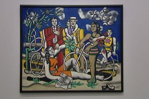 """leisures on red bottom"" de Fernand Léger exposé au musée Pompidou de Metz"