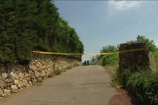L'entrée de la propriété où s'est déroulé le drame à Tourrettes-sur-Loup