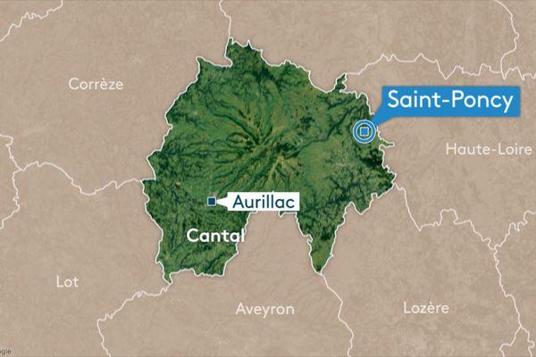 Vendredi 28 février, une voiture a percuté par l'arrière un camion qui circulait sur l'A75 au niveau de Saint-Poncy dans le Cantal.