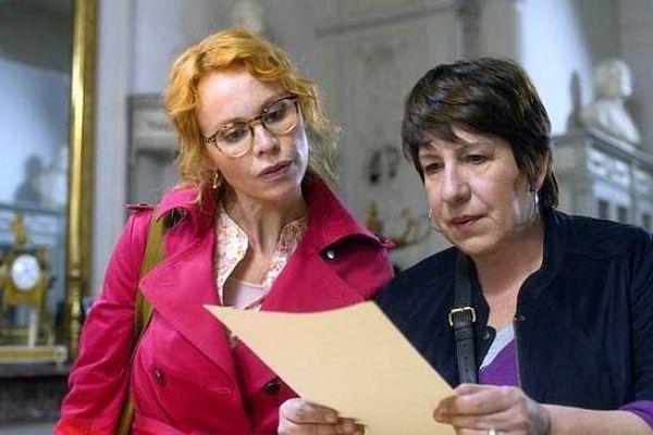 """Les 2 héroïnes de """"Crimes et botanique"""", mini-série de France 3, tournée à Montpellier et dans l'Hérault."""