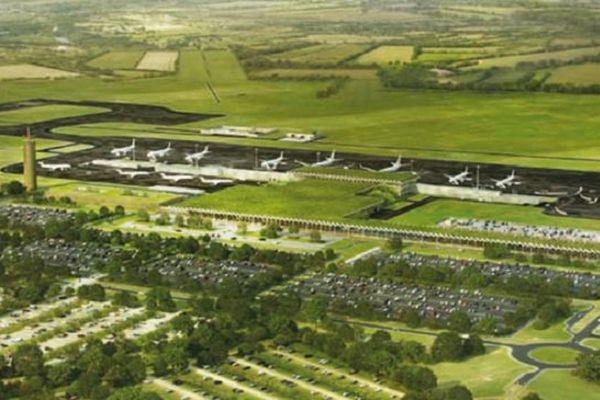 L'aéroport du Grand-Ouest vu sur les maquettes de Vinci.