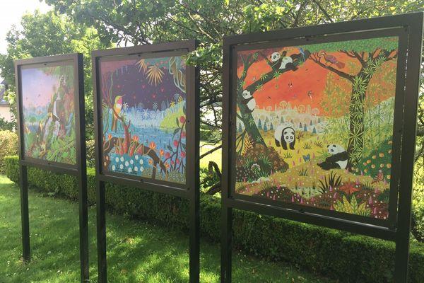 Le peintre naïf naturaliste Alain Thomas s'expose à Saint-Caradec (22)