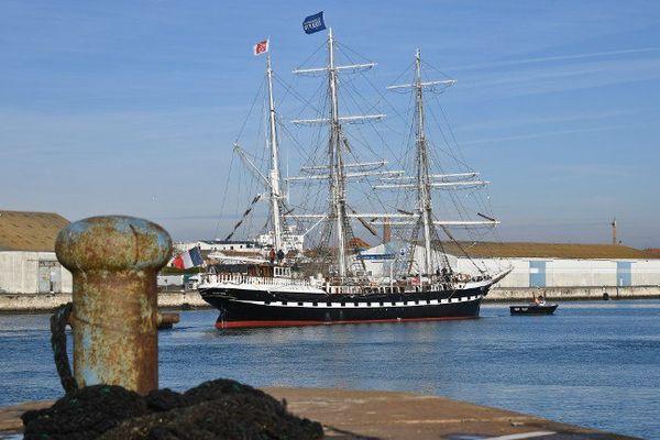 Le Belem est resté pendant plus d'un mois à la Rochelle en escale technique.