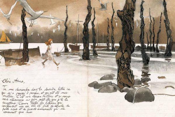 Lettre de Jules à Anna, extraite des Voyages de Jules de Sophie Michel, Emmanuel Lepage et René Follet