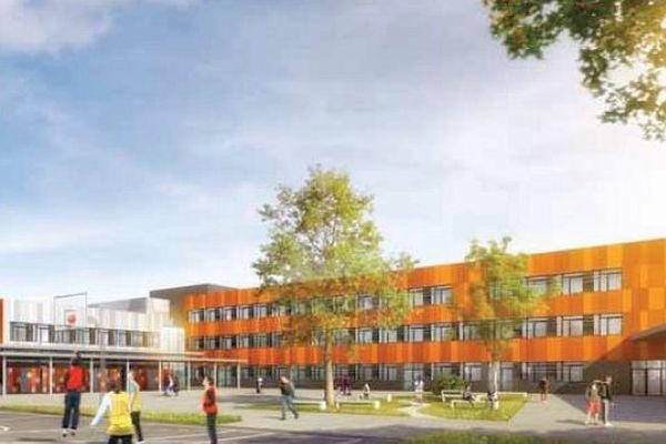 Le nouveau collège public de Savenay en Loire-Atlantique acueillera 700 élèves. architectes : Linea et MCM
