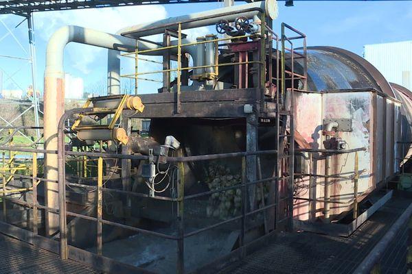 Une des machines de la sucrerie de Fontaine-le-Dun en janvier 2020