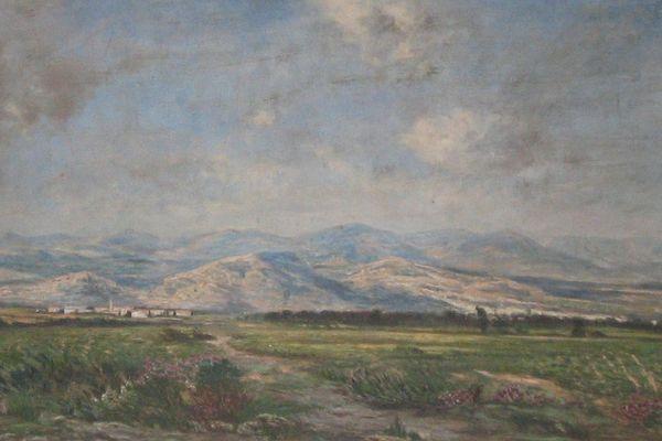 Paysage près de Narbonne - Salon de 1883 par Charles Le Roux