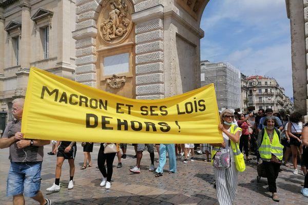5 000 manifestants étaient présents à Montpellier ce 24 juillet.