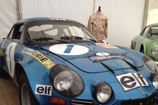 L'Alpine avec laquelle Jean Luc Therier a gagné le rallye de l'Acropole en 1973