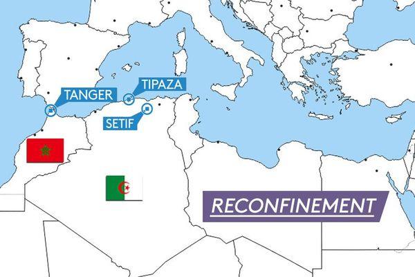 Trois villes du Magreb reconfinées