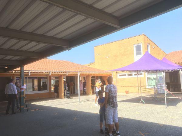 Un des bureaux de vote de la commune d'Aleria.
