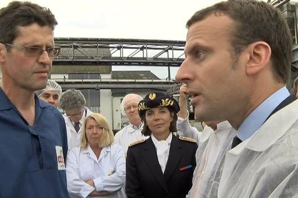 Le ministre de l'Economie a rendu visite aux salariés de l'usine de production d'Andros, en compagnie du PDG de l'entreprise et d'élus lotois.
