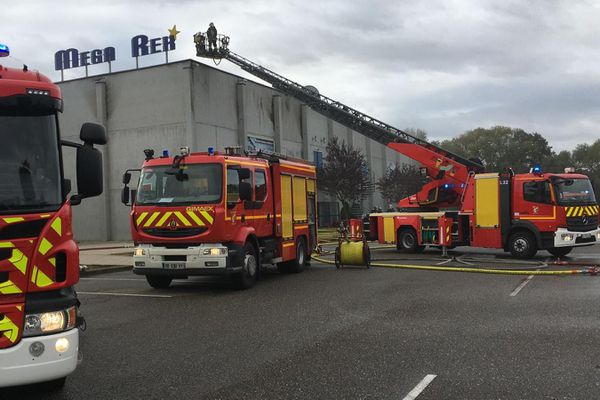 Incendie au cinéma Megarex de Haguenau.