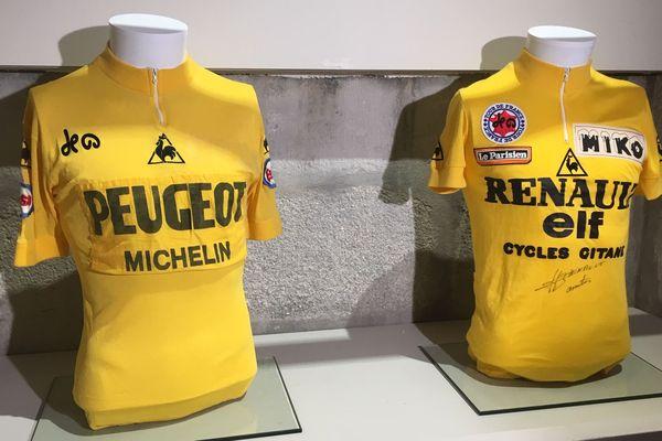 L'exposition propose une sélection de maillots jaunes portés par les leaders du Tour