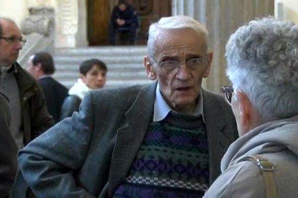 Le père Gérard Riffard lors de sa comparution en appel en décembre dernier