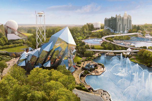 Vue générale du Parc du Futuroscope, tel qu'il existe en 2020 - Photo d'Illustration