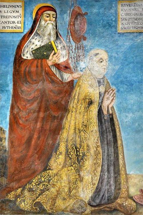 Le (futur) cardinal Jean Jouffroy, en jaune.