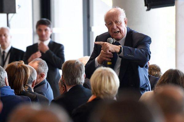Le maire (Les Républicains) de Marseille Jean-Claude Gaudin ce lundi 9 novembre lors de la séance.