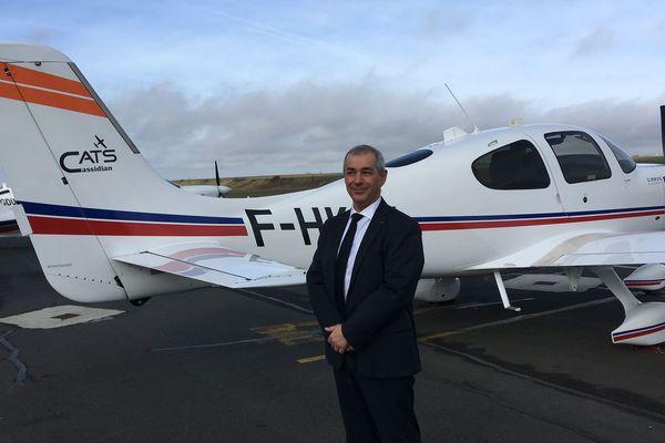 Jean Longobardi, président de l'Airbus flight academy, à l'aéroport d'Angoulême.