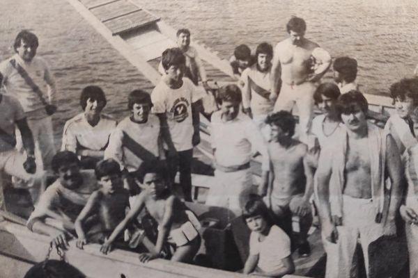 Fondée en 1911, la Société des Joutes Raphaëloises a conquis de haute lutte ses lettres de noblesse. PHOTO de 1984.