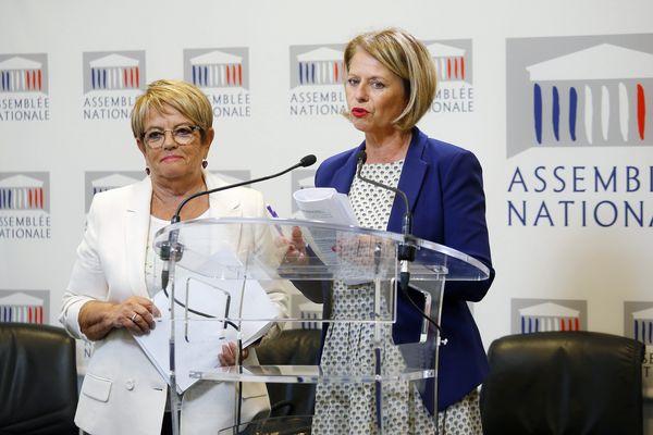 Les députées Brigitte Bourguignon (REM, Pas-de-Calais) et Monique Iborra (REM, Haute-Garonne)