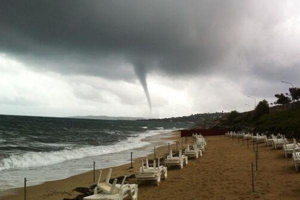 Cette photo a été prise samedi matin de la plage des éléphants de Sainte-Maxime