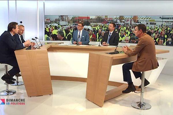 """Le plateau de l'émission """"Dimanche en politique/Alpexpress"""" notre magazine transfrontalier"""