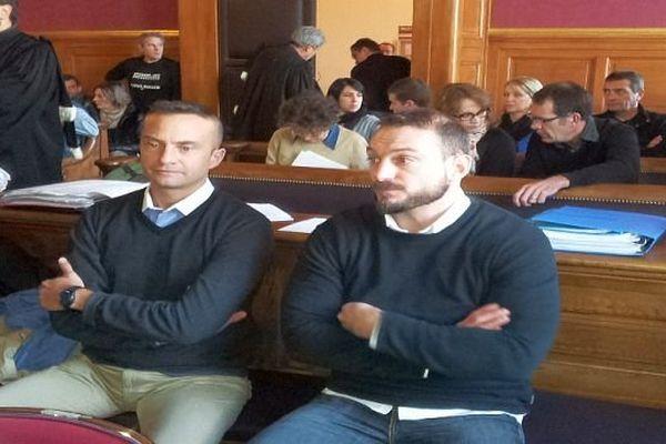Montpellier - Jean-Baptiste Pothier et Nicolas Vizioz, 2 des 6 accusés dans l'affaire du 3e RPIMa - 5 décembre 2013.
