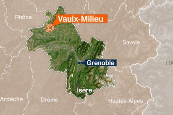 L'accident s'est produit sur l'A43, à hauteur de Vaulx- Milieu