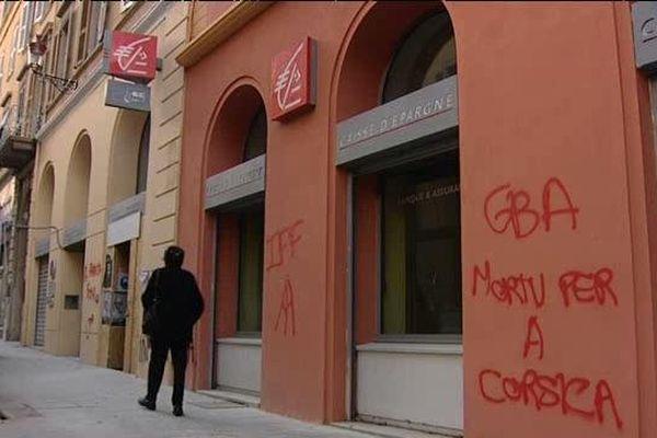 Plusieurs tags ont été découverts dans les rues de Bastia.